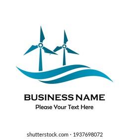Wind energy logo template illustration