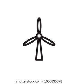 wind energy turbines, renewable energy outlined vector icon. Modern simple isolated sign. Pixel perfect vector  illustration for logo, website, mobile app and other designs