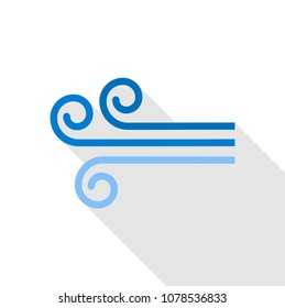 Wind icon. Flat illustration of wind vector icon for web