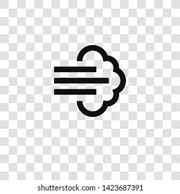 wind icon from miscellaneous collection for mobile concept and web apps icon. Transparent outline, thin line wind icon for website design and mobile, app development