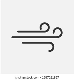 Wind Icon. One of Weather Element's or Climate  Illustration As A Simple Vector Sign & Trendy Symbol for Design and Websites, Presentation or Mobile Application.
