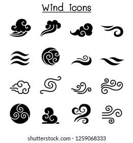 Wind icon set