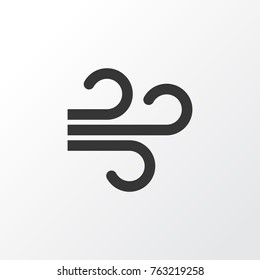 Wind icon symbol. Premium quality isolated weather wind icon element in trendy style.