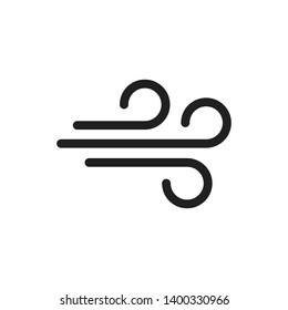 Wind icon trendy design template