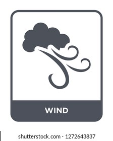 wind icon vector on white background, wind trendy filled icons from Autumn collection, wind simple element illustration