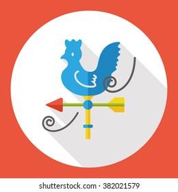 wind indicator cock flat icon