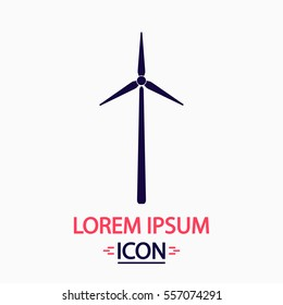 Wind power Icon Vector. Flat simple pictogram on white background. Illustration symbol
