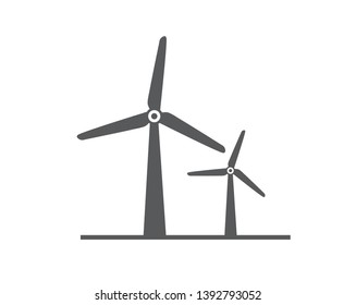 Wind power icon. Vector illustration. on white background