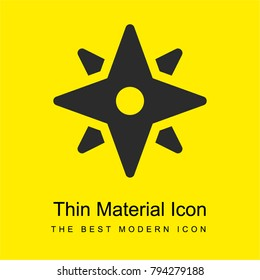 Wind rose bright yellow material minimal icon or logo design
