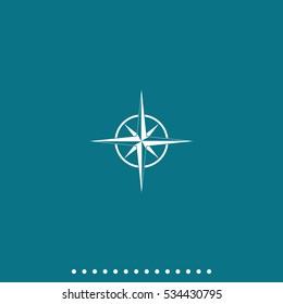 Wind rose icon. Cartography symbol.