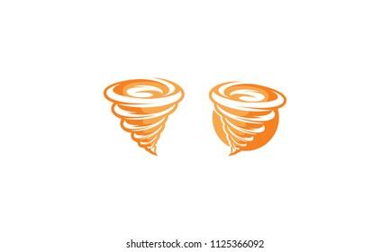wind tornado swoosh logo icon vector