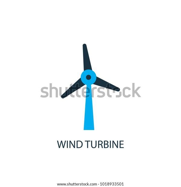 Wind Turbine Icon Logo Element Illustration Stock Vector