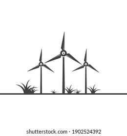 wind turbine icon vector illustration design template web