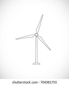 wind turbine outline icon