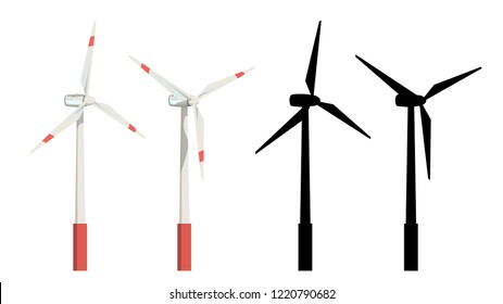 wind turbines set