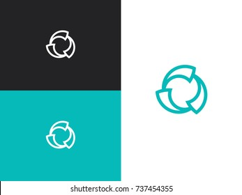 Wind ventilator vector line icon isolated on white background. Propeller fan line icon for infographic, website or app.