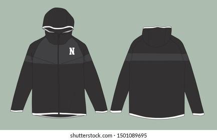 Windbreaker jacket design sport uniform vector template sweater