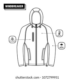 Windbreaker Jacket Vector Design