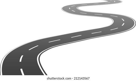 Winding road. Vector