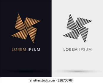 Windmill abstract logo, vector