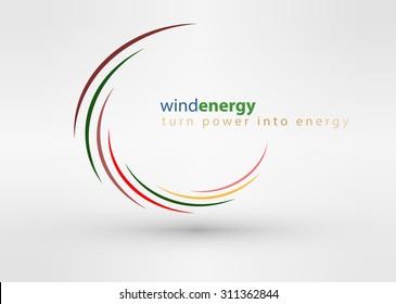 Windmill creative colorful abstract vector logo design template circle vortex business icon art company identity symbol concept
