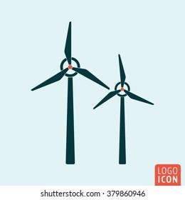 Windmill icon. Alternative energy icon isolated, minimal design. Vector illustration