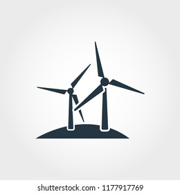 Windmill icon. Monochrome style design from collection. UI. Pixel perfect simple pictogram windmill icon. Web design, apps, software, print usage.