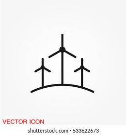 Windmill Icon on white background