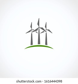 Windmill icon set. Collection icon windmill. Vector