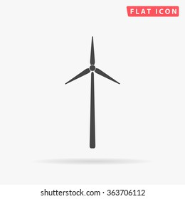 Windmill Icon Vector. Simple flat symbol. Illustration pictogram