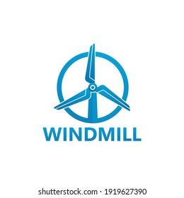 Windmill logo template design vector