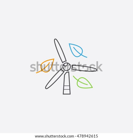 windmill vector logo design template stock vector royalty free