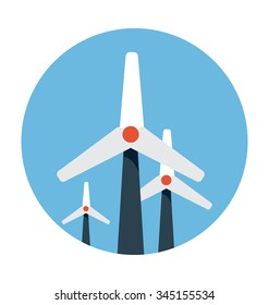 Windmills Colored Vector Icon