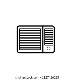 Window air conditioner icon. Clipart image isolated on white background