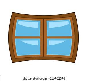 Window cartoon vector symbol icon design. Beautiful illustration isolated on white background