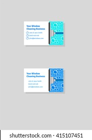 Cleaning business card images stock photos vectors shutterstock window cleaning business card template accmission Images