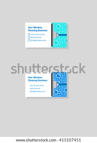 Window cleaning business card template stock vector royalty free window cleaning business card template wajeb