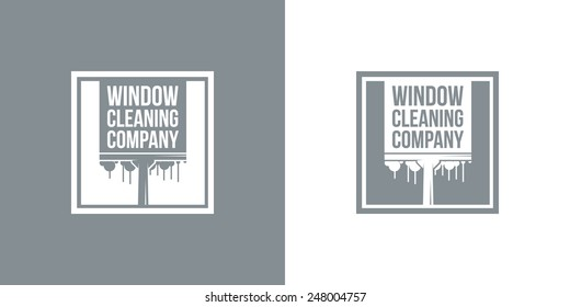 Window Cleaning Company Vintage Vector Logo