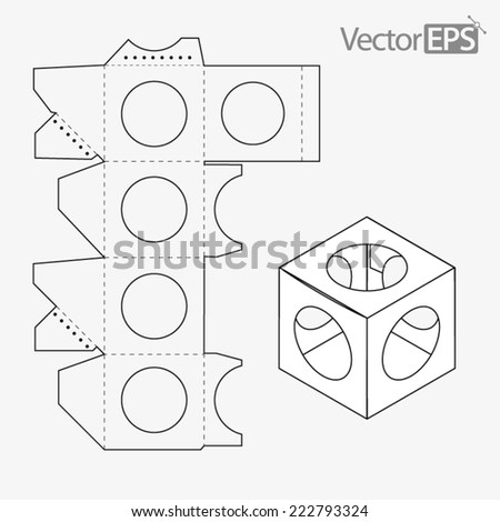 Window Display Box On Ball Stock Vector Royalty Free 222793324