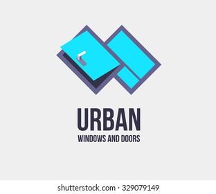 Window door logo template