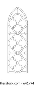 window and door vector stained glass black paint on the white background
