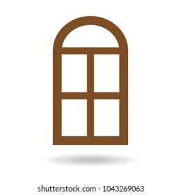 Window icon on white background. Vector illustration