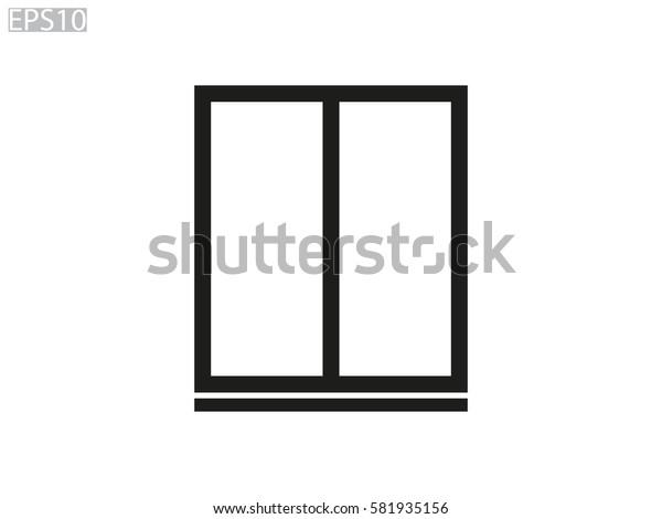window, icon, vector illustration eps10