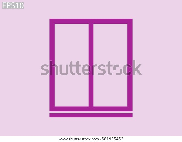window, icon, vector illustration eps10