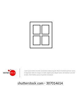 Window Icon - Vector Illustration - Flat pictogram icon