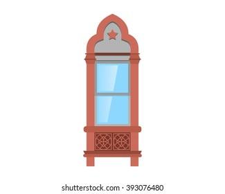 window interior exterior decor household furniture image vector