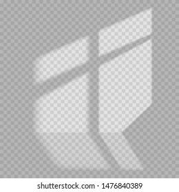 Licht und Schatten, realistisch grauer Hintergrund. Transparente Überlagerungseffekte für das Branding. Fensterrahmen-Schatten für natürliche Lichteffekte. Schatten und Licht aus dem Fenster.
