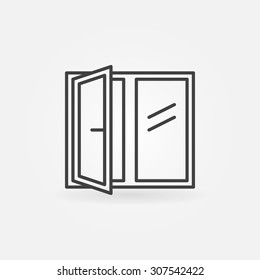 Window linear icon - vector symbol or logo