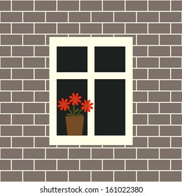 Window on the seamless wall