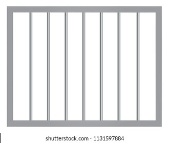 Window in prison with bars vector eps 10